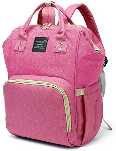 Baby Diaper Bag Multi-Function Waterproof Travel Backpack Tote Shoulder Nappy Bags With Changing Pad Large Capacity Stylish and Durable-Pink_26*17 * 42cm fantastic