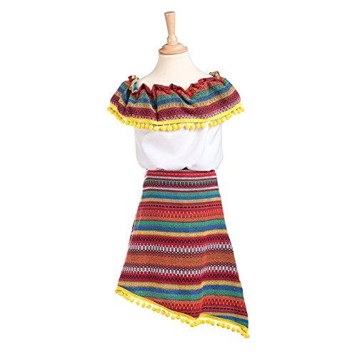 Mexicaanse kostuum kinderen Mexicaanse meisje jurk voor carnaval - 9/11 Jahre