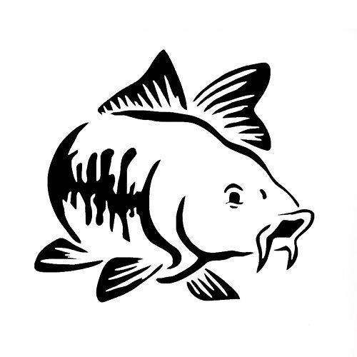 Auto Sticker Karpfen Fisch Aufkleber Angelsticker Angeln Fish Fishing 15x13.5 cm