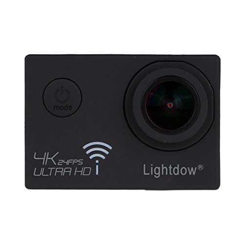 Lightdow Real 4K 12.40M Pixel Action camera ad alta velocità, Wi-Fi, chip DSP Novatek NT96660e sensore COMS Sony IMX117CQT + obiettivo grandangolare 170°