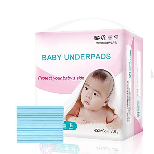 Disposable Underpads, Leak-Proof Breathable Waterproof Underpads Mattress Play Pad Sheet Protector, 20 Pack Disposable Incontinence Bed Pads for Baby Adults, and Pets(18x24IN)