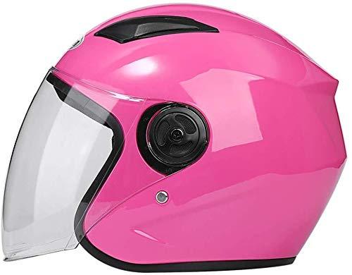 Helm Unisex Fietshelm, Skate Road Bike Speciale Helm En Spiegel Masker Verstelbare Lichtgewicht Mountain Racing Helm roze
