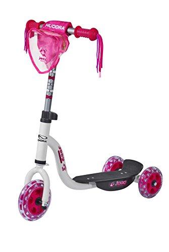 HUDORA Kinder-Roller Joey 3.0 weiß/pink, Scooter für Mädchen, Kinder Scooter, 11060