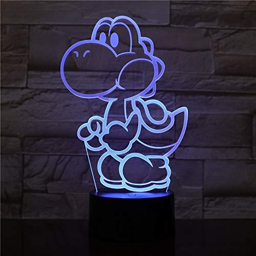 Preisvergleich Produktbild Yoshi Cute Mario 3D LED USB Tischlampe Cartoon Spiel Figur Super Acryl Neuheit Weihnachtsbeleuchtung Kinder Geschenk RGB Touch Remote Toys 2444