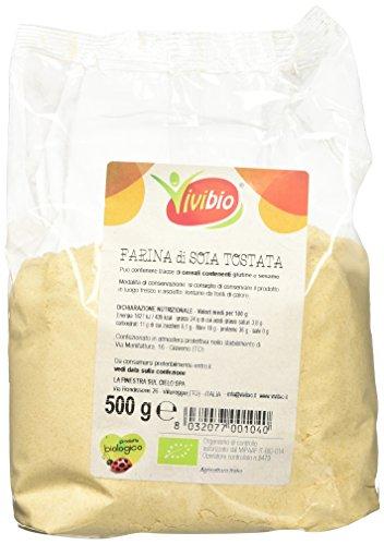 Vivibio Farina di Soia Tostata - 2 pezzi da 500 g [1 kg]