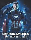 Captain America Calendar 2022: 2021-2022 Calendar Official Holidays 17  x11  .
