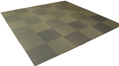 イケヒコ い草 置き畳 ユニット畳 国産 シンプル 9枚組 『シンプルノア』 ブルー 約82×82×1.7cm 9P