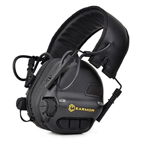 Opsmen sport suono amplificazione Gunshot cancellazione del rumore protezione acustica elettronica auricolare paraorecchie M31Series, nero