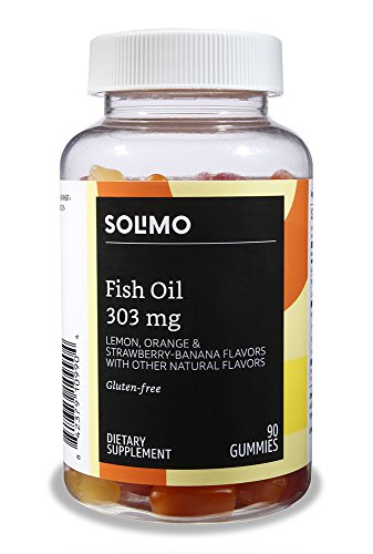 Amazon Brand  Solimo Fish Oil 303 mg 90 Gummies 2 Gummies per Serving EPA and DHA Omega3 fatty acids