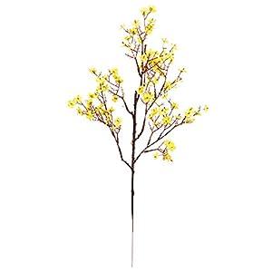 NUZYZ Faux Flower,Faux Flower Beautiful DIY Vivid Gypsophila Fake Silk Artificial Flower for Daily Life Yellow