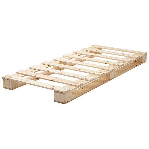 Cadre de lit Lit Simple en Bois 90 * 200 Cm De Plate-Forme De Plate-Forme avec Un Support De Latte Fort pour Adultes Enfants Adolescents - Bois Naturel