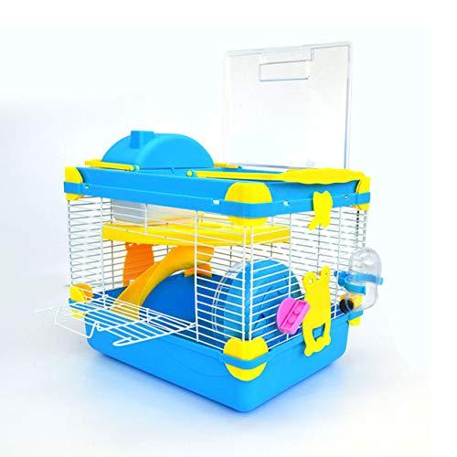 ZXCVASDF Jaulas de hámster multifuncionales para hámster, castillo, incluyendo oso dorado, jerbo, erizo, juguete transparente