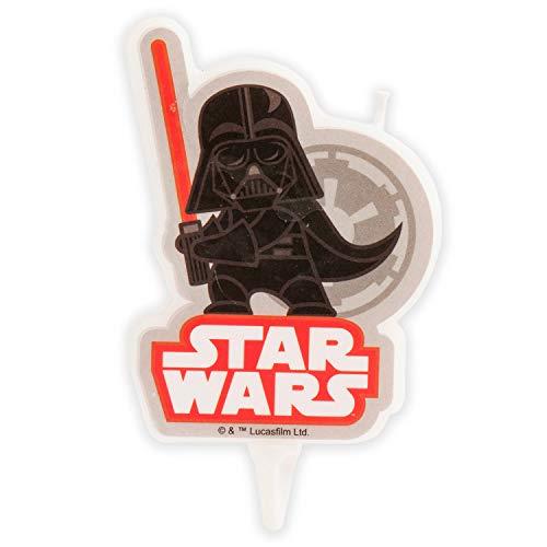 Dekora - Vela de Cumpleaños en 2D de Darth Vader de Star Wars