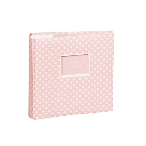 Semikolon (351146) 200 Pocket Fotoalbum, 100 Seiten,Fotos 10 x 15 cm, Baby Rose
