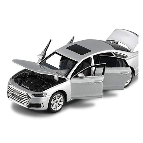 Diecast Model Car 1:32 Lega A8 Sedan Die Cast Model Toy Car Simulazione Audio Luce Sterzo Ammortizzatore Veicolo (Colore : 3)