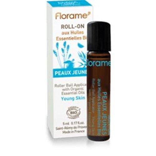 Florame - Roll-on Peau Jeune Aux Huiles Essentielles Bio 5ml Florame
