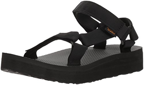 Teva Women's W MIDFORM Universal Wedge Sandal, Black, 09 M US