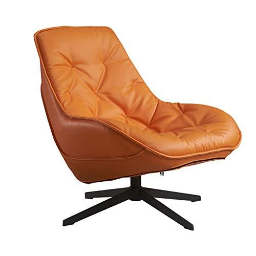 ZoSiP Sofá 1 Asiento Sofá Vivo Luz giratoria de Lujo Sala de Estar Moderna Perezoso de Piel del sillón reclinable Sofá Silla (Instalación extraíble) Sofá Salón de Asiento único