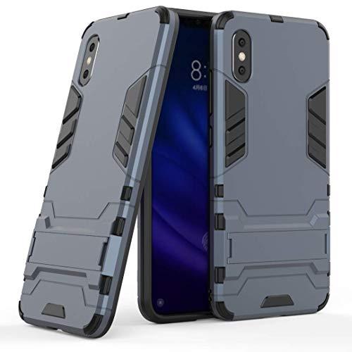XINKO Xiaomi Mi8 Pro Funda, Conveniente Soporte 2 in 1 PC TPU Gel Ultra Fina Protección a Bordes [Diseño Durable] Máxima protección contra Golpes para Xiaomi Mi8 Pro (Azul Oscuro)