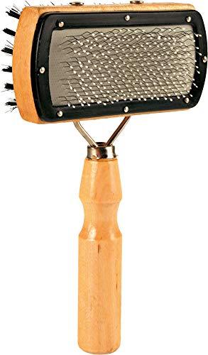 Trixie 2305 Softbürste, Holz, beidseitig, 10 × 18 cm
