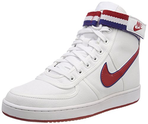 Nike Vandal High Supreme, Zapatos de Baloncesto Hombre, Blanco (White/Gym Red/Deep Royal Blue/White 101), 38.5 EU