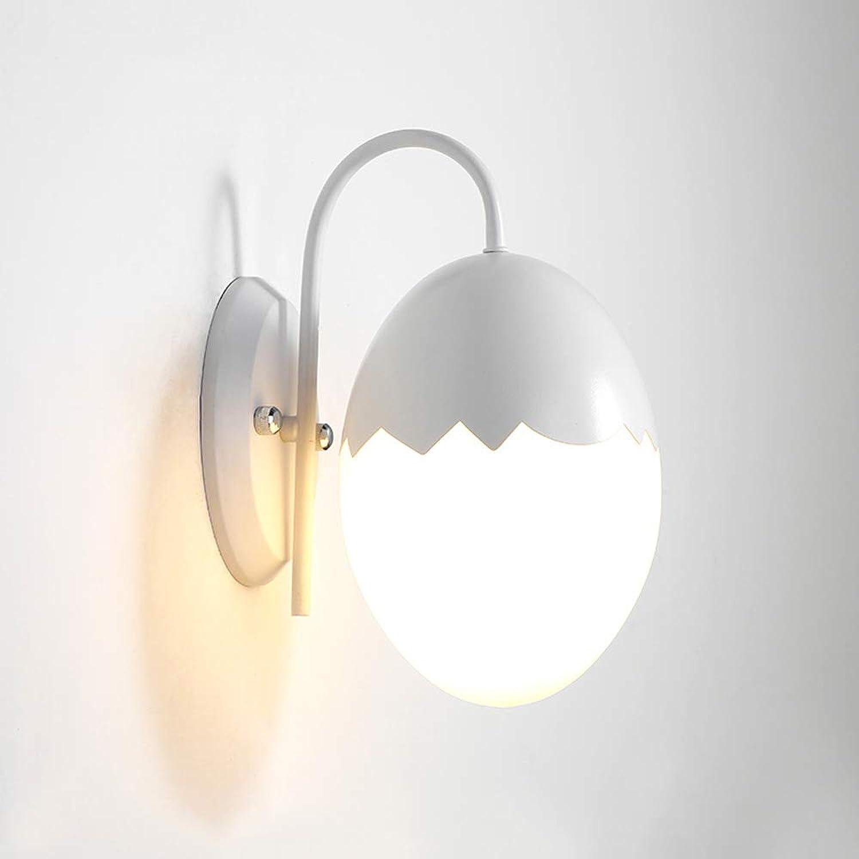IBalody LED Schmiedeeisen Kreative Glas Ei Form Wand Laterne Lichter Moderne Einfache Schlafzimmer Korridor Treppe Studie Home Wandleuchte Cafe Restaurant Bekleidungsgeschft Wandleuchte