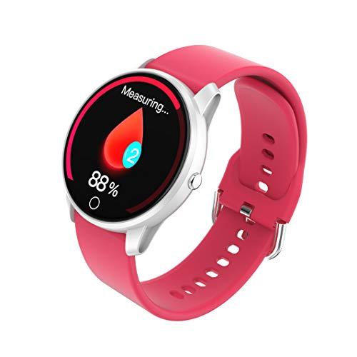 BIGCHINAMALL Relojes Inteligentes Pulsera Actividad Smartwatch Mujer (Rojo)