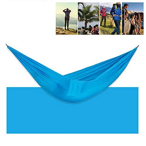 DASGF hangmat, single valute doek hangmat, camping hammock, lichtgewicht nylon draagbare hangmat voor backpacking/camping/reis/beach/yard, 3 minuten Quick Setup, 600 lbs