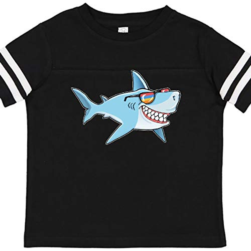 inktastic Super Suave Shark Toddler T-Shirt 4T Football Black and White 363d0