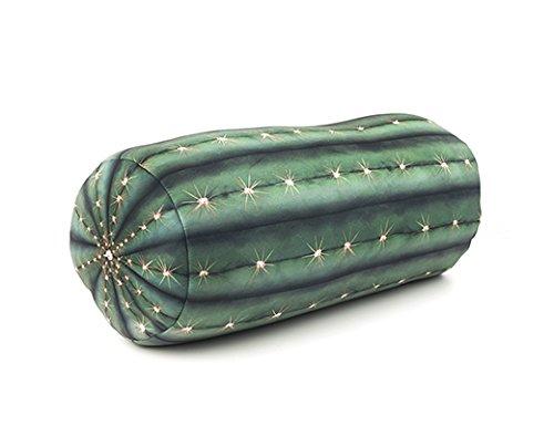 Kikkerland Cactus Pillow, Polyester, Green, Single