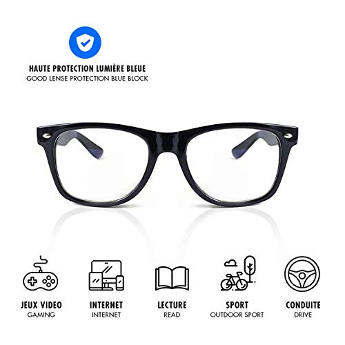 Lusee – Occhiali per Videogiochi e Lavoro, Protezione Anti Luce Blu (Videogiochi, Computer, Smartphone, Tablet, TV, Gamer) combattono la Fatica, Lo Stress visivo e favoriscono Il Sonno