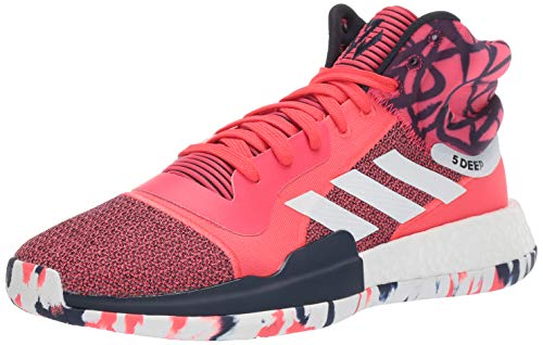 adidas Men's Marquee Boost Low, Shock red/White/Collegiate Navy, 9.5 M US