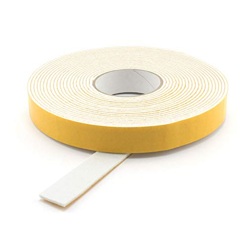 GleitGut Filzband selbstklebend Weiss - Länge:10 m auf der Rolle - Filzklebeband Meterware - Breite: 30 mm Filzstärke: 3 mm