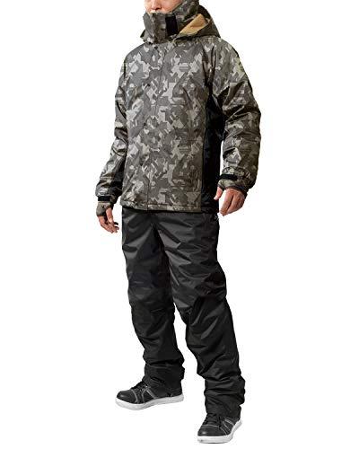 防水防寒スーツ 上下 (保温効果) (耐水圧:10000mmH2O) (フード取り外し可能) (超軽量防水防寒) ELサイズ AS-3110