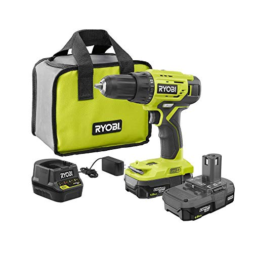 Ryobi P215K1 18-Volt ONE+ Lithium-Ion Cordless 1/2 in. Drill/Driver Kit with (2) 1.5 Ah Batteries, Charger, and Bag