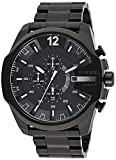 Diesel Men's 51mm Mega Chief Quartz Stainless Steel Chronograph Watch, Color: Black (Model: DZ4283)