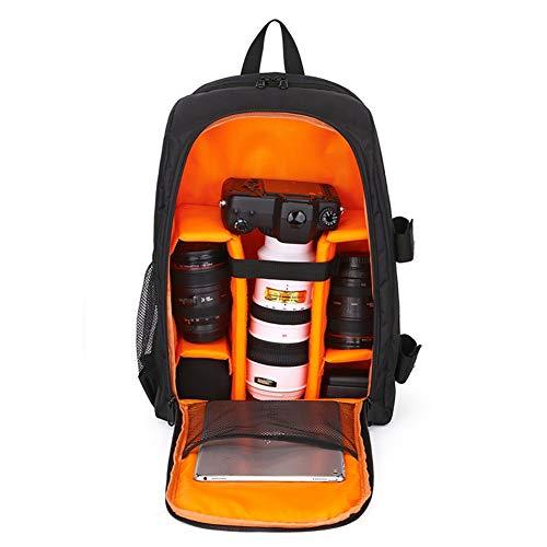 XBDZQ Bolsa De Camaraen Nuevo Bolso De La CáMara SLR Hombro Bolsa De FotografíA Al Aire Libre Profesional Impermeable PortáTil Bolsa PortáTil(Verde, Morado, Rojo, Naranja) orange-43cm*15.5cm*30cm