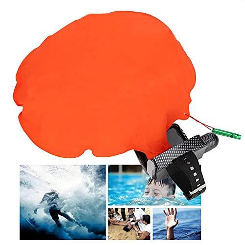 Pulsera Salvavidas Anti ahogamiento Estilo de muñeca Seguridad para Nadar Auto Rescat Vida Anti ahogamiento Flotante (Red)