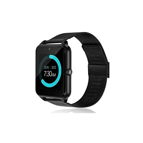 Z60 Smart Watch Phone with Camera Touchscreen SIM Card Slot Waterproof Phones Smart Wrist Watch Sports Fitness Tracker Compatible with iPhone Android Samsung Huawei Sony for Kids Men Women (Black)