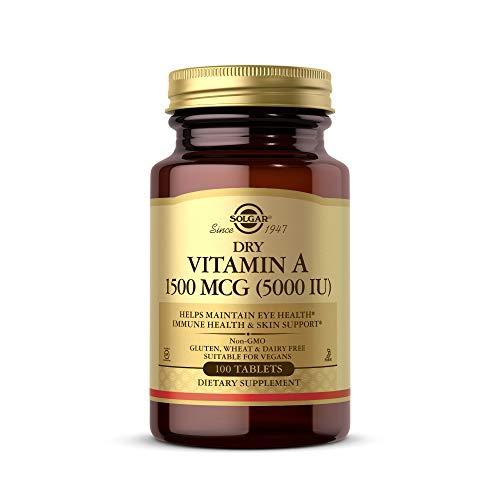 Solgar Vitamina A Seca 5000 UI Comprimidos - Envase de 100