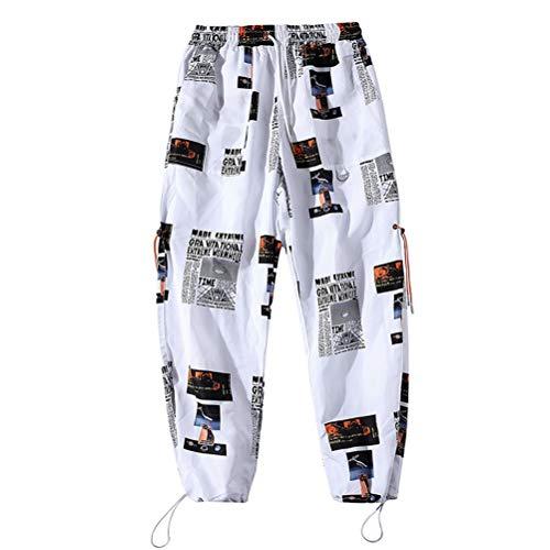 Hombres Ropa Deportiva Pantalones de Calle Pantalones de Cintura elástica Estampado Casual Fitness Joggers hasta los Tobillos Pantalones de chándal de Hip Hop
