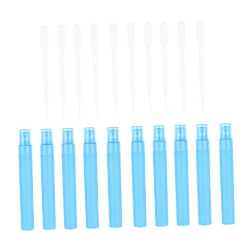 sharprepublic 10pcs 30ml Atomiseur De Parfum De Voyage Vide Petite Bouteille De Parfum En Aérosol - Bleu