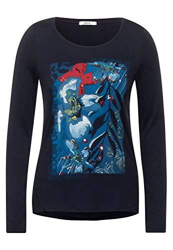 Cecil Damen Shirt mit Frontprint deep Blue L
