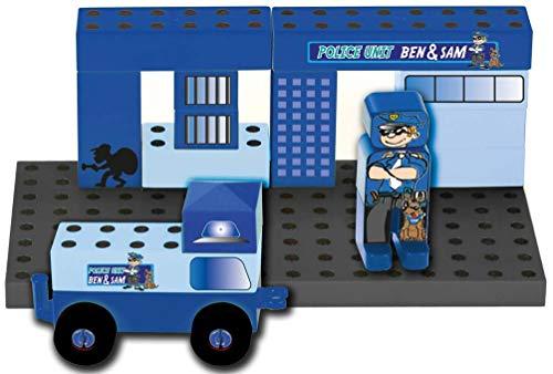 Theo Klein 0018 0018-MANETICO Polizeistation, Spielzeug, Blau
