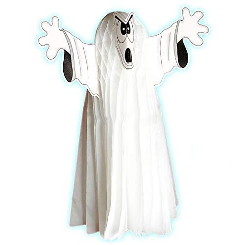 NET TOYS Fantôme Fluorescent déco Grand fantôme Personnage Blanc Hauteur 25 cm Halloween Revenant décoration d'halloween épouvante décoration