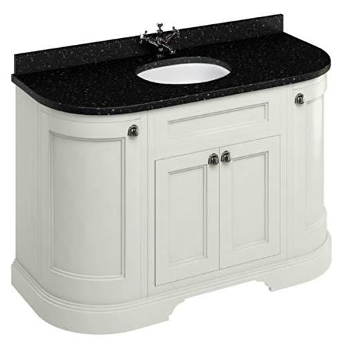 Casa Padrino Waschschrank mit Granitplatte und 4 Türen - Antik Stil Waschtisch, Farbe Badmöbel:Sand