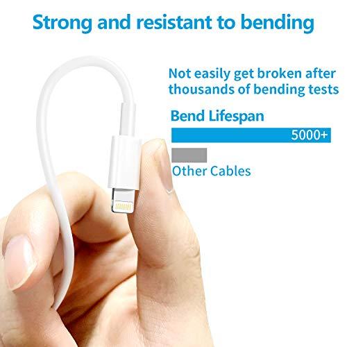 LUOATIP USB Ladegerät und Ladekabel 1M 4-Pack, Phone Datenkabel Kabel mit Netzteil Ladeadapter Stecker Charger Adapter Ladeset kompatibel für iPhone X / 11 Pro Max XR XS Max 8 7 6 6S Plus 5 5S 5C SE