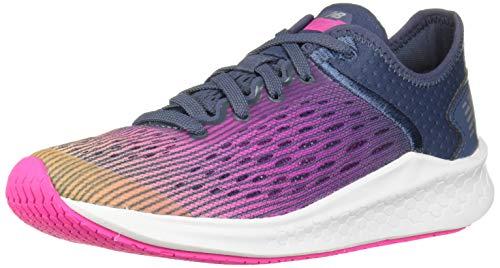 New Balance Kids' Fast V1 Fresh Foam Running Shoe, Light Mango/Peony/Vintage Indigo, 4.5 W US Big Kid