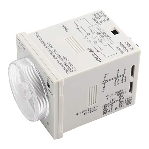 Entatial Verzögerungszeitgeber H3cr-A8 Verzögerungszeitgeberrelais 1.2s-300h Tastensteuerzeitrelais 8 Pin 100-240vac 100-125vdc