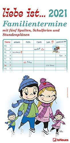 liebe ist... 2021 Familienplaner - Familien-Timer - Termin-Planer - Kinder-Kalender - Familien-Kalender - 22x45